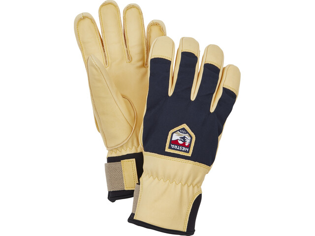 Hestra Sarek Ecocuir 5 Finger Gloves, navy